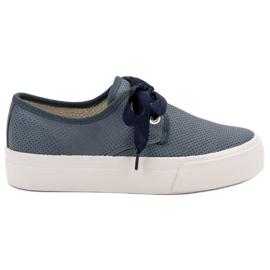 Kylie Zapatillas Atadas Con Una Cinta azul