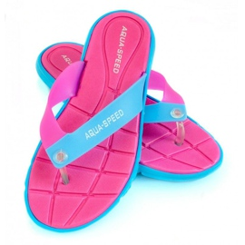 Zapatillas Aqua-Speed Bali rosa-azul 03 479
