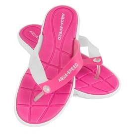 Zapatillas Aqua-Speed Bali rosa y blanco 05 479
