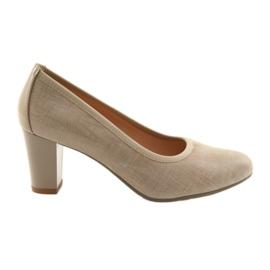 Zapatos de mujer suela elástica Arka 5137 beige marrón