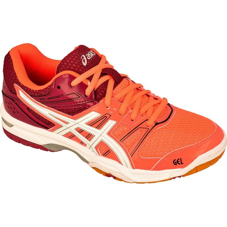 Zapatillas de voleibol Asics Gel-Rocket 7 W B455N-0601 naranja multicolor