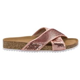 Kylie Zapatillas rosas con lentejuelas
