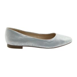 Bailarinas bombas caprice 22104 azul plata