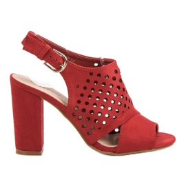 Seastar Sandalias caladas, construidas rojo