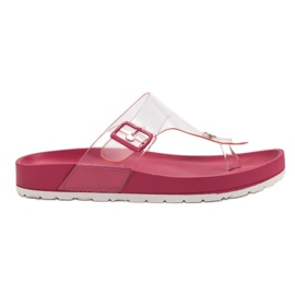 Seastar rosa Flip Flops transparentes