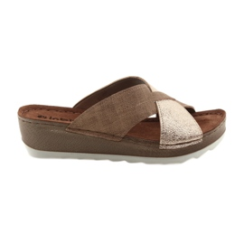 Zapatillas KOMFORT INBLU GX06 marrón / oro