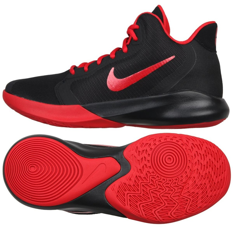 Zapatillas de baloncesto Nike Precision Iii M AQ7495-001 negro negro