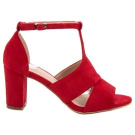 Vinceza rojo Sandalias rojas