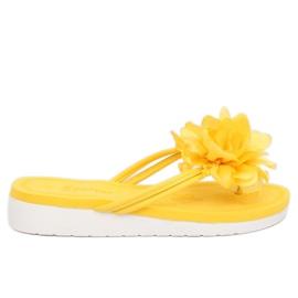 Chanclas con flor amarillo CK103 Amarillo