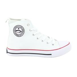 American Club Zapatillas de deporte blancas atadas club americano blanco