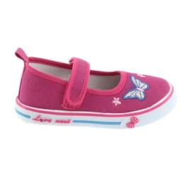 Zapatillas bailarinas rosas con plantilla de piel de atletico.