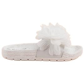 Seastar Zapatillas Blancas Con Flores blanco