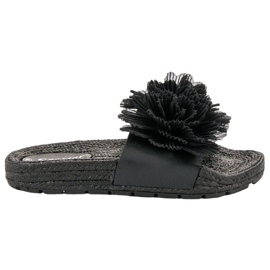 Seastar Zapatillas Negras Con Flores negro