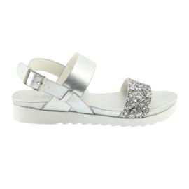 Sandalias plateadas cómodas Filippo 685 gris