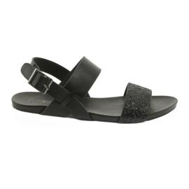 Cómodas sandalias negras filippo 685 brocado negro