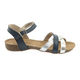 Sandalias deportivo azul marino / plata Filippo 245