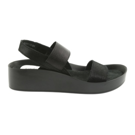 Filippo 767 sandalias negras perfiladas negro