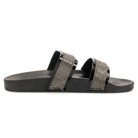 Seastar Zapatillas Negras Con Cristales negro