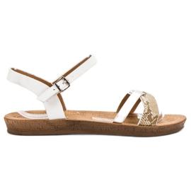 Seastar Sandalias planas de moda blanco