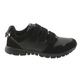 Zapatillas deportivas velcro American Club FH16 negro