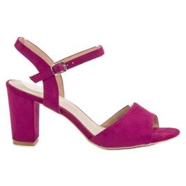 Filippo Sandalias en tacones púrpura
