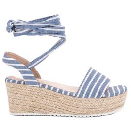 Seastar azul Sandalias Con Cinturones De Cuña