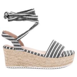 Seastar gris Sandalias Con Cinturones De Cuña