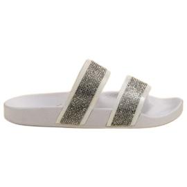 Seastar Zapatillas Blancas Con Cristales