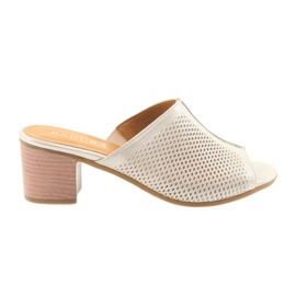 Zapatillas doradas para mujer badura 5311