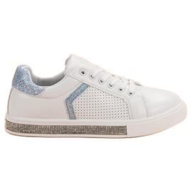 Ideal Shoes Calzado Deportivo Con Circonitas blanco