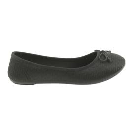 Zapatillas McKey de bailarinas slip-in negras. negro