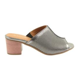 Gris Zapatillas de mujer de plata Badura 5311
