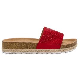Seastar Zapatillas rojas con circonitas rojo