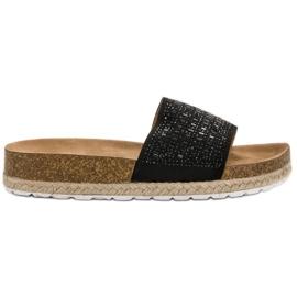 Seastar negro Zapatillas Negras Con Zirconitas