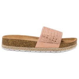 Seastar Zapatillas rosas con circonitas