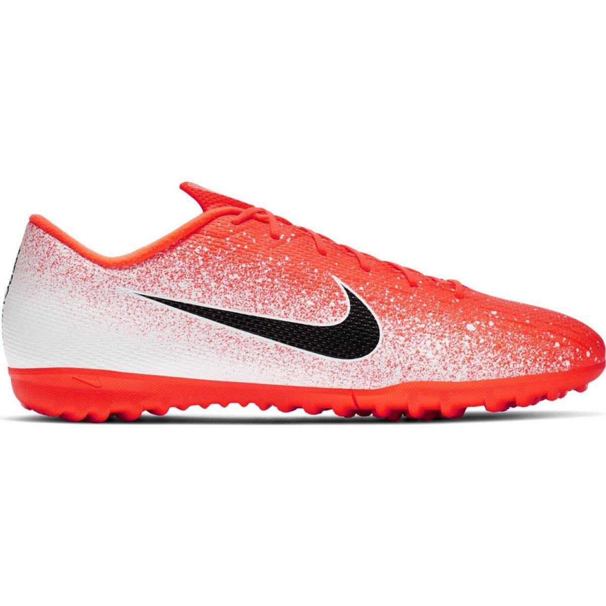 Botas de fútbol Nike Mercurial Vapor X 12 Academy Tf M AH7384 801 blanco naranja blanco