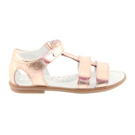 Sandalias para niña, oro rosa, Bartek 56016