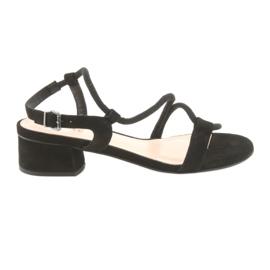 Sandalias negras tacones altos edeo 3386 negro