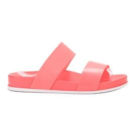 SHELOVET Cómodas zapatillas de coral rojo