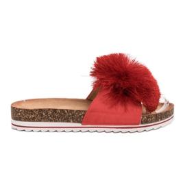 Seastar Zapatillas Con Borla rojo