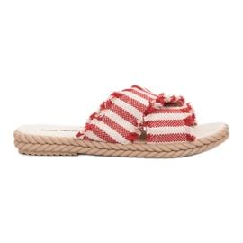 Seastar Zapatillas Con Cinturones rojo