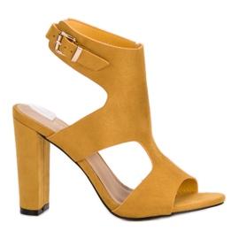 Ideal Shoes amarillo Tacones altos sexy