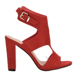 Ideal Shoes Tacones altos sexy rojo