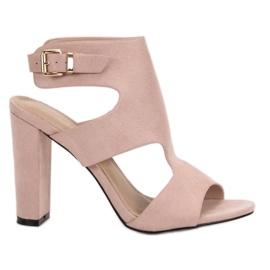 Ideal Shoes marrón Tacones altos sexy