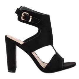Ideal Shoes negro Tacones altos sexy
