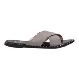 Small Swan Zapatillas de ante grises