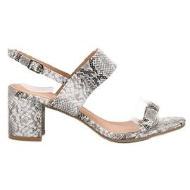 Ideal Shoes gris Sandalias de moda de las mujeres