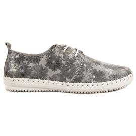 Filippo gris Zapatos de cuero atados