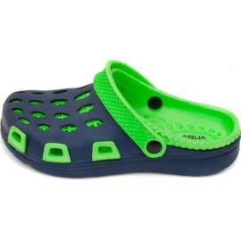 Aqua-Speed Zapatillas de velocidad Aqua Silvi Jr col 48 verde azul marino