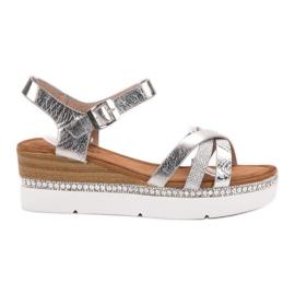Seastar gris Sandalias de moda con circonitas.